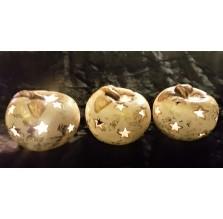 Cudne lampki ceramiczne w kształcie jabłuszek