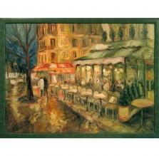 """Obraz """"Paryż w deszczu"""". Technika: olej"""