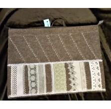 Filcowa torba na laptop i dokumenty w pionowe pasy. Ręcznie robiona.