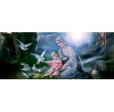 """Fotografia religijna """"Maryja z Jezuskiem i gołąbkami"""""""