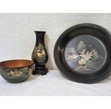 Komplet ozdób z japońskiej laki