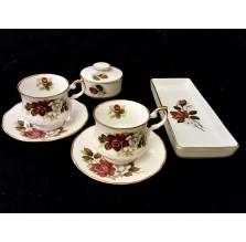Deserowy komplet kombinowany z porcelany Rosenthal i Queens