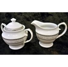 Elegancki mlecznik i cukiernica z porcelany Ambition