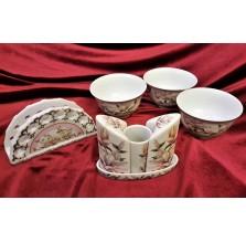 Komplet koktajlowy z czeskiej porcelany
