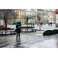 """Fotografia Wrocław """"Dziewczyna z parasolką w deszczu"""""""