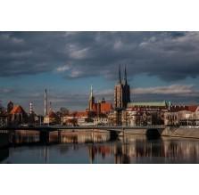 """Fotografia Wrocław """"Katedra – widok z przeciwległego brzegu Odry"""""""
