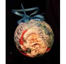 Bombka ze Świętym Mikołajem. Ręcznie robiona.