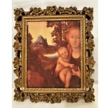 Obraz religijny. Madonna z dzieciątkiem.
