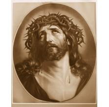 """Fotografia religijna """"Portret Jezusa"""". Sepia."""