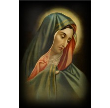 "Fotografia religijna ""Matka Boska płacząca"". Kolor."