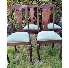 4 dębowe krzesła z XIX wieku