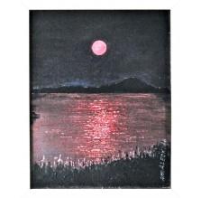 """Obraz """"Czerwony księżyc"""" Technika : olej"""