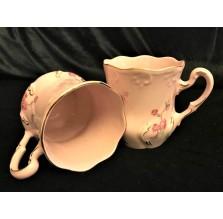 Duet: Różowe kubki z czeskiej porcelany Haas & Czjzek