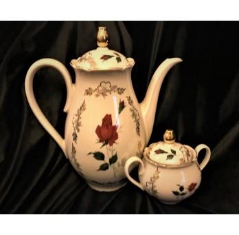Komplet do kawy lub herbaty, dzban z cukiernicą