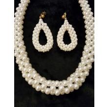 Naszyjnik i kolczyki z perełek