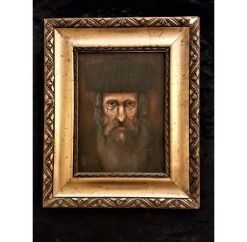Obraz: Portret Starego Żyda. Technika: olej