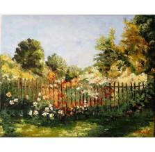"""Obraz """"Ogród kwiatowy"""". Technika: olej"""
