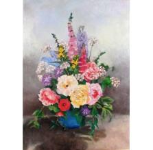 """Obraz """"Kwiaty w wazonie"""". Technika: olej"""
