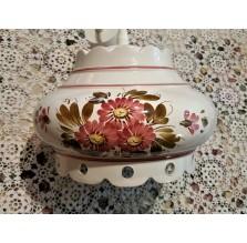 Lampa wisząca ceramiczna w kwiaty